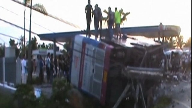Thailand bus crash in Surat Thani province