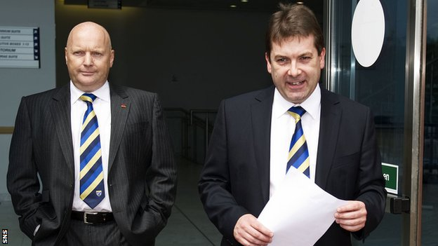 SFL chief executive David Longmuir (left) at Hampden