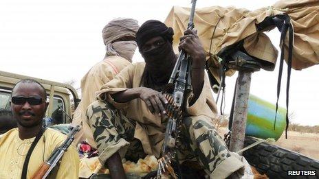 Ansar Dine fighers, Mali