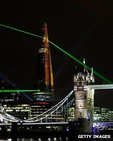 Shard firing lasers