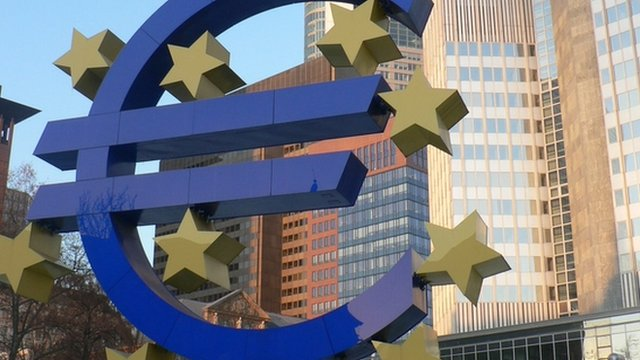 Euro sign outside the ECB's headquarters