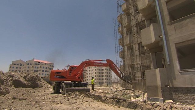 Building work in Afghanistan
