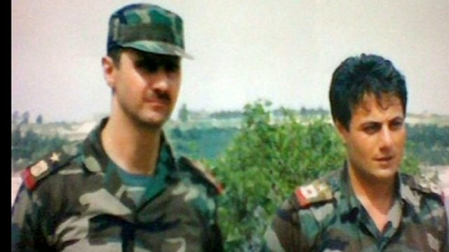Bashar al-Assad and Manaf Tlas