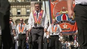 Orange parade