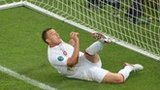 England defender John Terry clears from behind the line against Ukraine