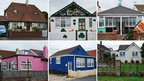 A selection of photographs of homes in Jaywick