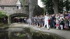 Stephen Fenby carried the flame alongside the River Wensum, which is  a Site of Special Scientific Interest and Special Area of Conservation.