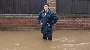 Man in Ockbrook flood