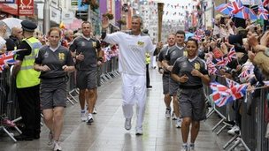 Mark Foster carried the torch in Southend