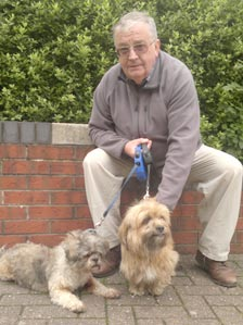 Garry White and Toffee (left) and Tiny