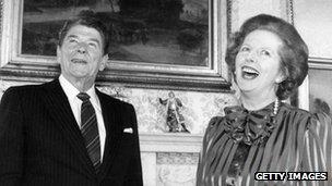 President Ronald Reagan and Prime Minister Margaret Thatcher, 1984