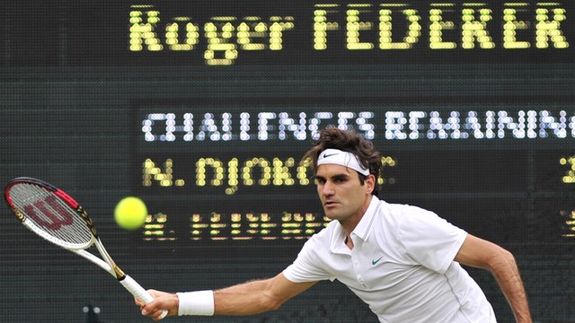 Six-time Wimbledon champion Roger Federer