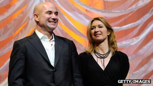 Andre Agassi and Stefi Graf