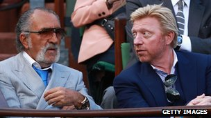 Ion Tiriac and Boris Becker