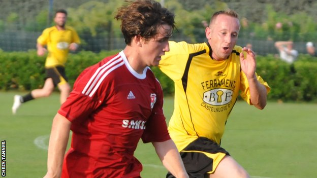 Rooney playing in Swindon's pre-season friendly in Italy