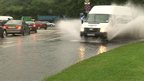 Van splashes water in Derby