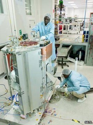 NASRDA engineers working on NigeriaSAT-2