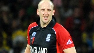 James Tredwell playing for England in 2011