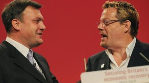 Ed Balls and Eddie Izzard