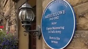 Arthur Lowe&#039;s blue plaque award