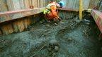 The Liverpool Street dig reveals several skulls