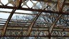 Rusty ornate canopy ironwork at Tynemouth Station