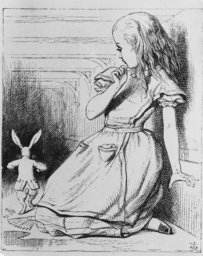Sketching of Alice in Wonderland
