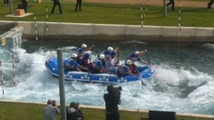 Torch being carried down the rapids