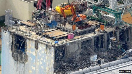 Fukushima's crippled Reactor 4. Photo: 5 July 2012