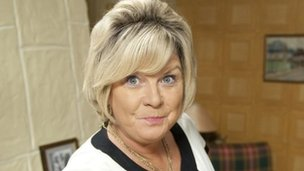 Elaine C Smith as Mary Nesbitt in comedy Rab C Nesbitt