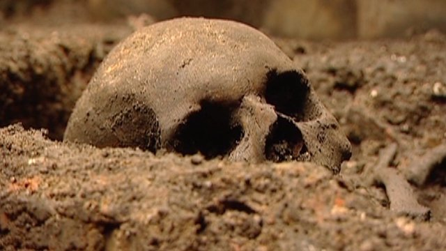 Skull found at one of the Crossrail excavation sites