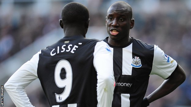 Papiss Demba Cisse and Newcastle United colleague Demba Ba