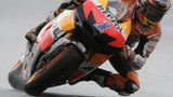 Casey Stoner takea a turn in practice at the German MotoGP