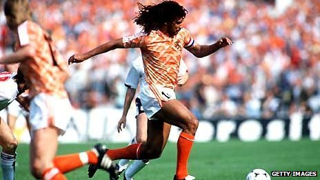 Gullit captained the Netherlands to Euro 88 victory