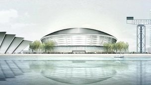 Artist's impression of the new Hydro Arena