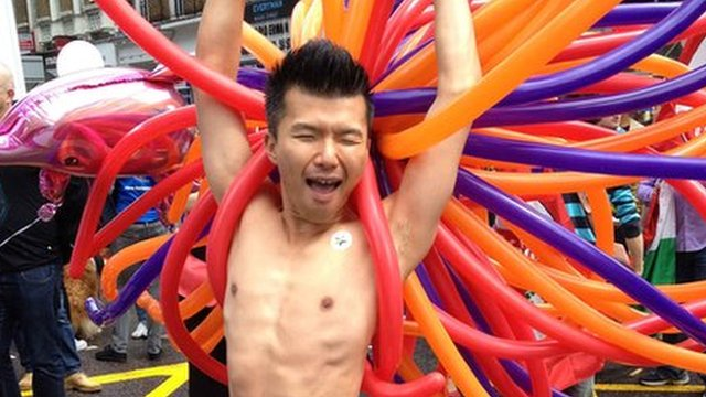 Man at London&#039;s gay World Pride event