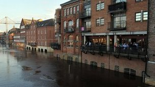 River Ouse flooding in York