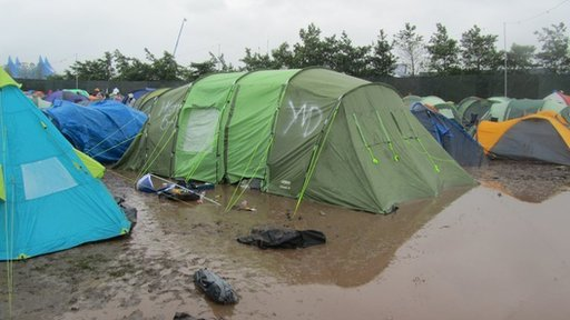 Waterlogged tents