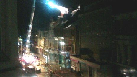 Fire at property in Commercial Street, Newport. Picture: Rebecca Thompson