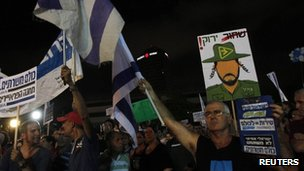 Protesters in Tel Aviv demand conscription for all in Israel. Photo: 7 July 2012