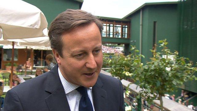 David Cameron at Wimbledon