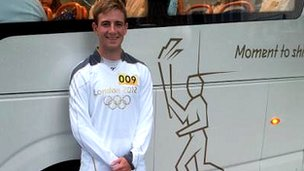 Rory Copus - torchbearer at around 7am