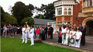 Torch kiss at Bletchley Park