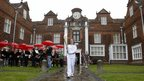 Emily Rogers carried the Olympic flame at Christchurch Mansion in Suffolk, 6 July 2012