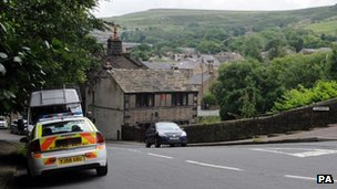 Police car in Marsden