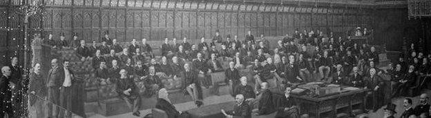 Illustration of the House of Lords in 1910
