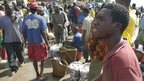 Rajabu Mungi at the fish market