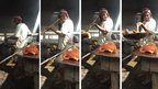 Ally Iddi cooking fish