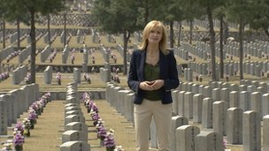 Jackie Bird at cemetery