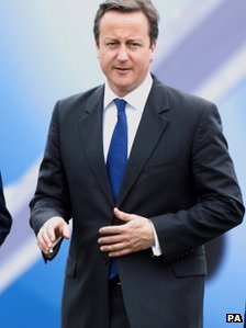 David Cameron at Farnborough Air Show on Monday, 9 July